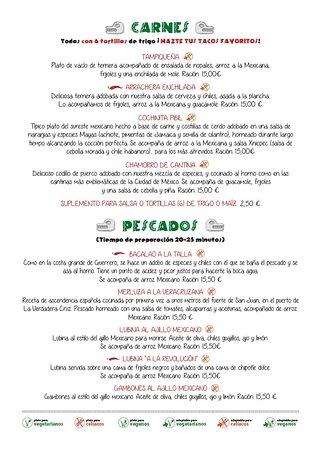 Restaurante Mexicano Limon y Sal: Menú: nuestras carnes y pescados