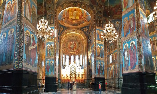 Church of the Savior on Spilled Blood - 7000 m2 mosaics