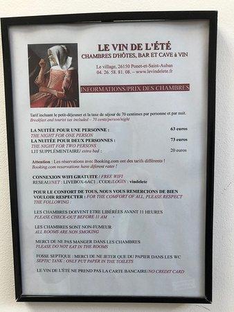 Ponet-et-Saint-Auban, France: Le Vin de l'Eté