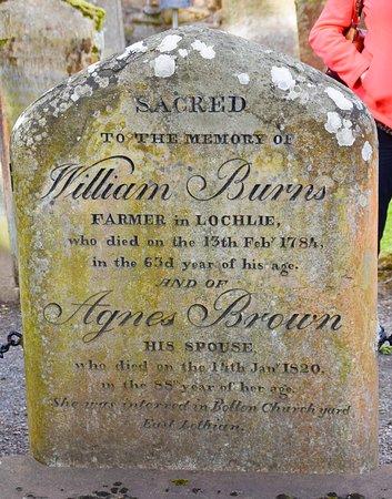 Grave of Burns' Parents