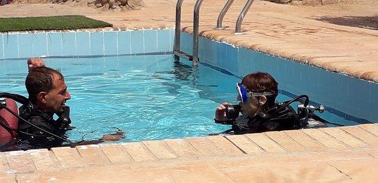 prova in piscina