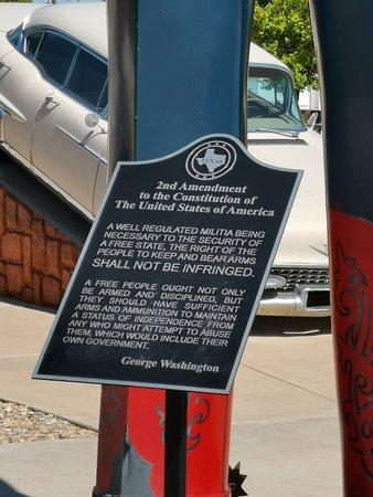 2nd Amendment plaque