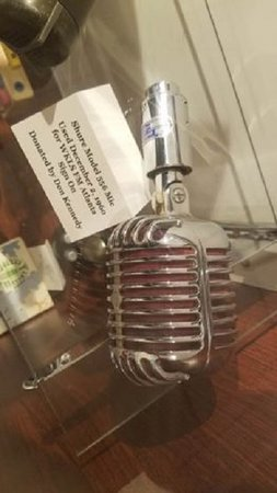 The first microphone used on legendary Atlanta WKLS FM donated by original station owner, Don Kennedy