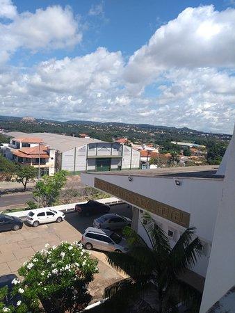 Vista do corredor do hotel
