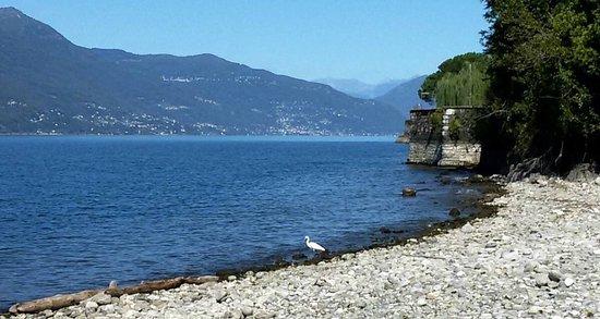 Laveno-Mombello, İtalya: spiagga delle Rianne