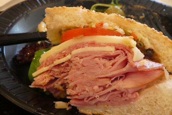 Cafe Beignet on Decatur: Huge shared ham sandwich