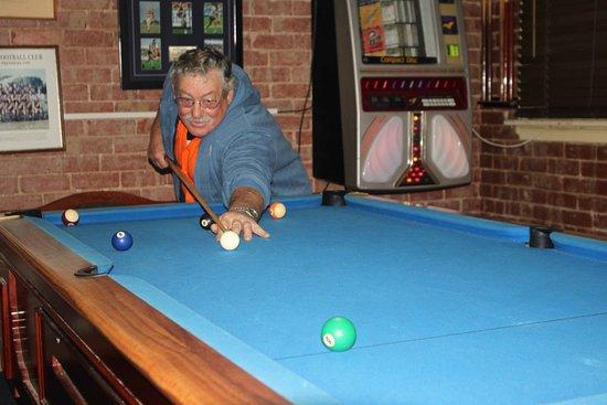 Game of pool at Kaneira Hotel