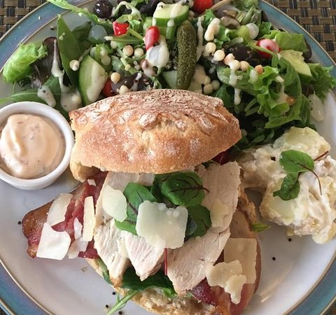 All our sandwiches are served with our popular house salad and a potato salad.