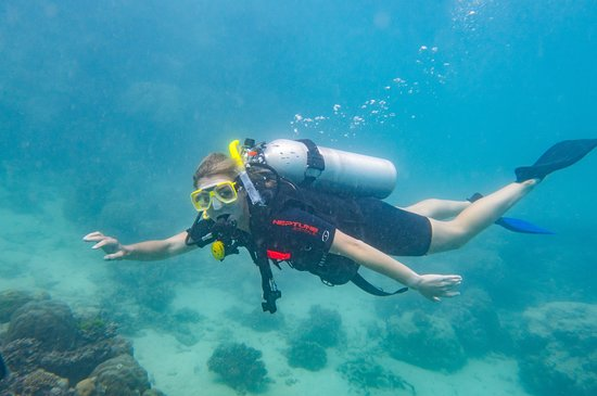 Passions of Paradise Great Barrier Reef Snorkel and Dive Cruise from Cairns by Luxury Catamaran: My first ever dive!
