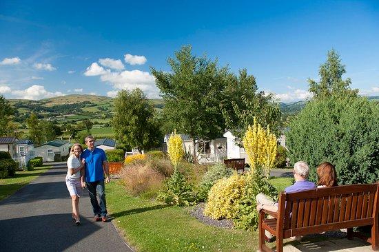 Tan Rallt Luxury Holiday Park: Tan Rallt Garden & Pond