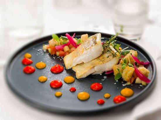 Fish main course at La Fontana