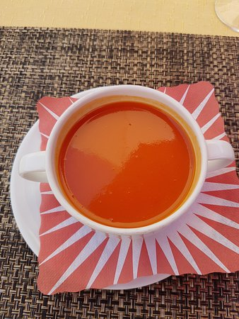Délicieux potage aux tomates