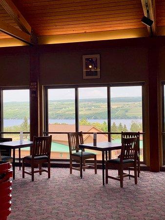 Indoor seating in tasting room