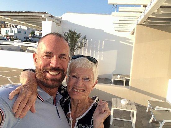 Rochari Hotel: Sur la terrasse de la suite, le bonheur!