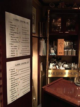 cocktail menu example