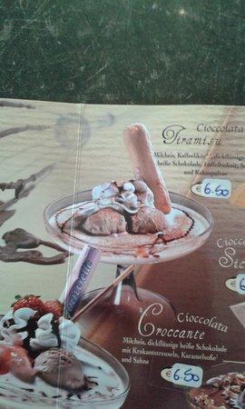 Eiscafe Cortina: karten bild