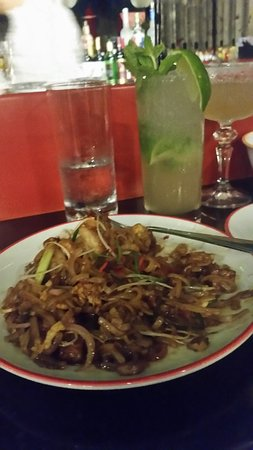 Asian District: Pad Thai one of the best fried noodles with seafood, it is spicy but if you put a squeeze of lemon to blend the taste.