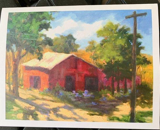 Hartwell, GA: Country scene notecard