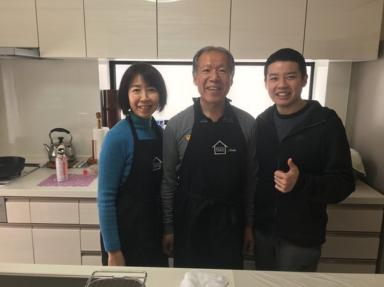 """Experience all of Japanese culture and Japanese food experience classes """"origami, udon, Japanese food, green tea, calligraphy"""" in 4 hours: Thanks for welcoming us into your home, Taka family!"""