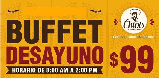 Restaurante Chivis: Desayunos de 8:00 am a 1:00 pm y comidas de 1:00pm a 5:00pm