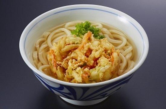 人気ナンバー3【野菜かき揚げうどん】 「かき揚げ(玉ねぎ・人参・春菊)・ネギ」入り