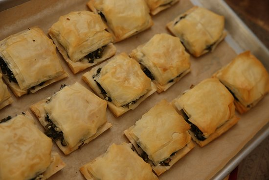 The Shop on Westminster: House-made filo dough covered spinach pie