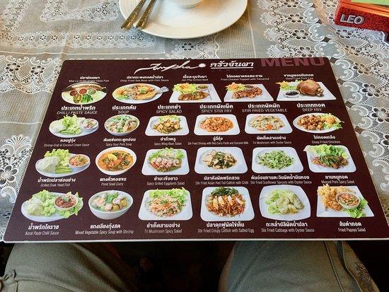 Pak Chong District, Tajlandia: extensive menu