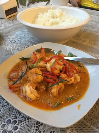 Pak Chong District, ไทย: Shrimp red curry