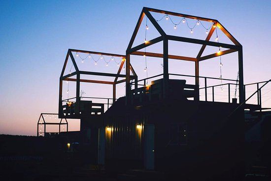 Lumi: All our container rooms have their own roof terrace.