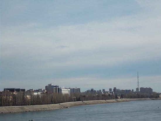 Glazkovskiy Bridge. The Angara River.