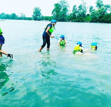 Piemonte Rafting: Bagni in corrente