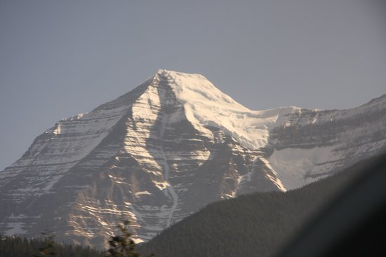 Mount Robson from the Rocky Mountaineer.