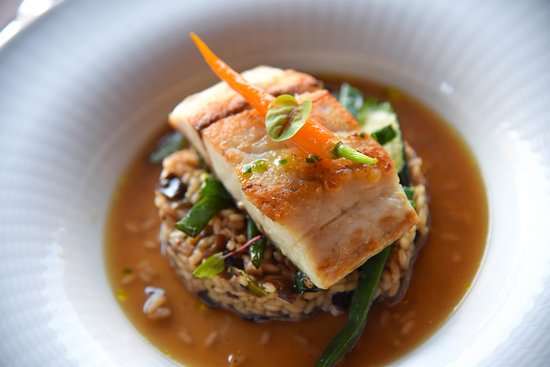 Son Julia Country House: Las Bóvedas restaurant - fish and risotto
