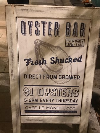 Thursday night $1 Oysters ++++++