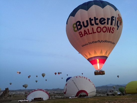 Cappadocia Hot Air Balloons by Butterfly Balloons: Balloon is starting