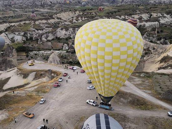Cappadocia Hot Air Balloons by Butterfly Balloons: Balloon is landing