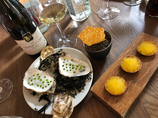 Chablis and oysters