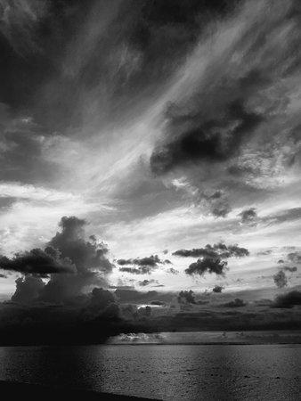 The St. Regis Mauritius Resort: Sunset at the beach