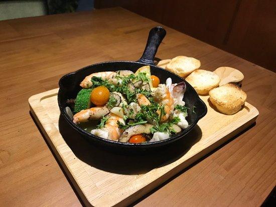 Chura's style seafood ajillo