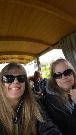 Skip the Line: CabriO Mt Stanserhorn Railway Ticket: Riding the train for the first leg of the trip up the mountain.