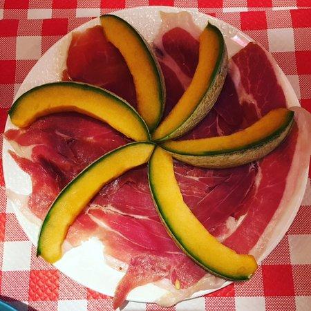 Melon frais et Jambon de parme DOP affiné 24 mois