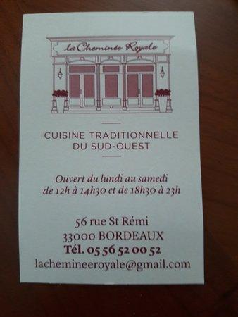 La Cheminee Royale Old Bordeaux