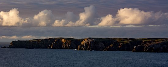 Mangersta, UK: The cliffs at sunset