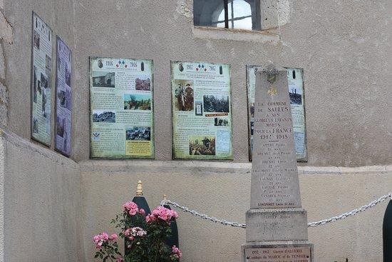 Saules, Francúzsko: Superbe initiative, une leçon d'histoire prés du monument aux morts. J'ai vraiment adoré et trouve l'idée très bonne