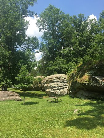 Picnic area in Dixon Springs State Park.