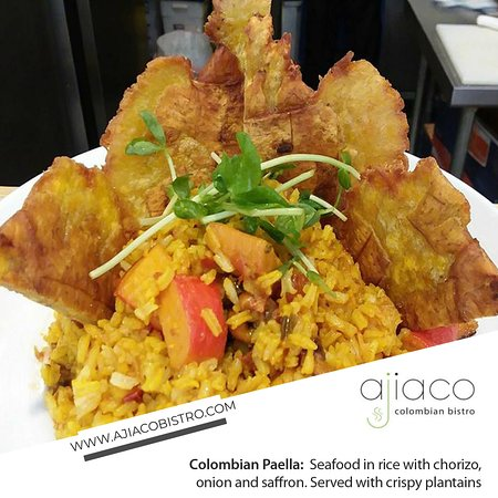 Albuquerque, NM: One of our special dishes: The Colombian Paella, a dish that you must try!