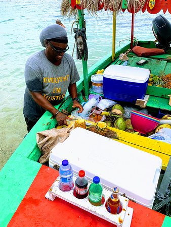 Smokey the Drink Boat at Pigeon Island
