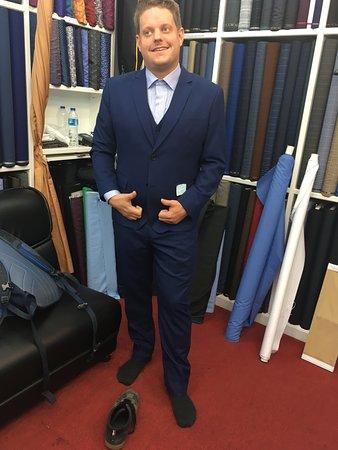 Anzug mit Weste