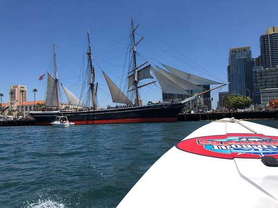 San Diego Harbor Speed Boat Adventure: A nice view of the tall ships.