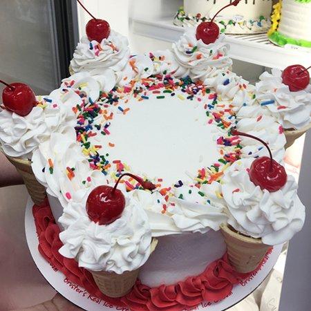Bruster's Real Ice Cream: Cone Cake